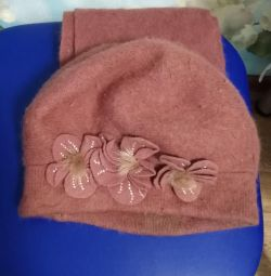 Hat with scarf