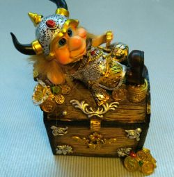 Viking figure piggy bank.