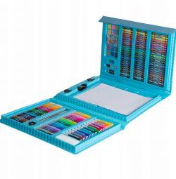 Набір для малювання Синій 208 предметів новий