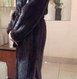 Mink γούνα παλτό είναι μεγάλη.