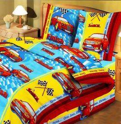 Set de lenjerie de pat Baby grosier calico 1,5sp