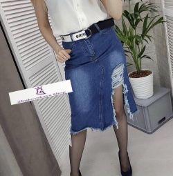 Fusta jeans (nou)