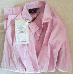 Finn Flare πουκάμισο μπλούζα νέο, r-XL