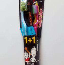 Reach комплект взрослая+детская зубн щётка 6-12лет