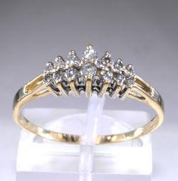 Inel de aur cu 14 diamante Italia de 0,3 ct
