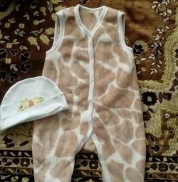 Полукомбинезон тигренок для малыша