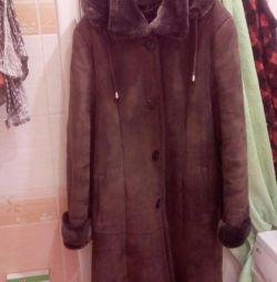 Δερμάτινο παλτό για γυναίκες