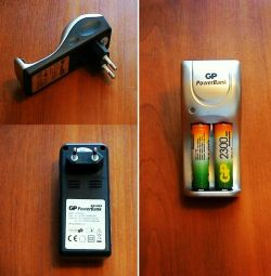Battery charger with batteries