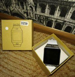 Нові Смарт годинник білі DZ09