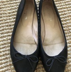 Pantofi de balet din piele