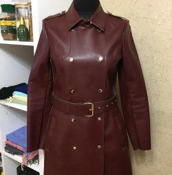 Кожаный плащ(куртка) Stradivarius
