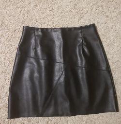 Leatherette skirt