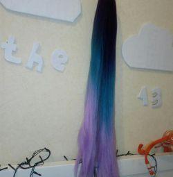 Kanekalon renkli saçlar