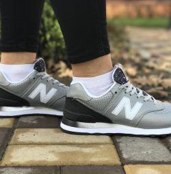 Кросівки New Balance 574 black & silver