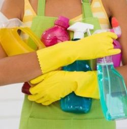Cleaning of apartments and houses