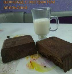 Lapte ciocolată neagră cu portocaliu