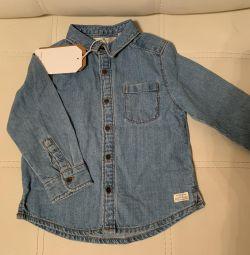 Рубашка под джинсу Zara детская новая