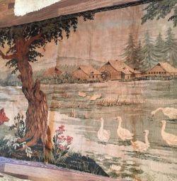 Старинный немецкий ковeр,250 x 120 см