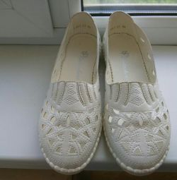 New makasiny - ballet flats white size 38