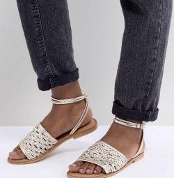 Sandale din piele ASOS