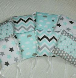 Pillows for children on the crib