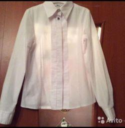 Okul 146 büyüme için beyaz bluz
