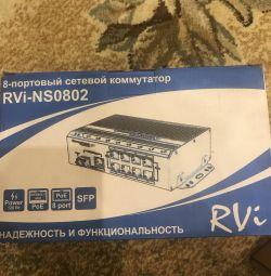 Коммутатор сетевой новый RVi-NS0802