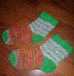 Κάλτσες πλεκτές, μαλλί, για 3-5 χρόνια