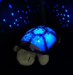 Turtle night light projector of the starry sky.
