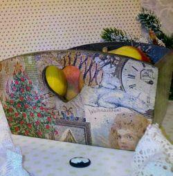 Candy κουτί decoupage δώρο σπίτι διακόσμηση κουζίνας