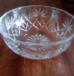 Crystal salad bowl USSR