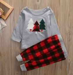New Year's home set / pajamas (Christmas trees 1-1,5)