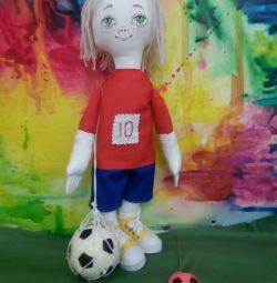 Handmade Doll Football Player