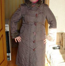 Kapşonlu suni kürklü ceket Kışlık Sonbahar