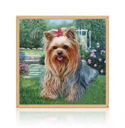 Diamond embroidery mosaic terrier