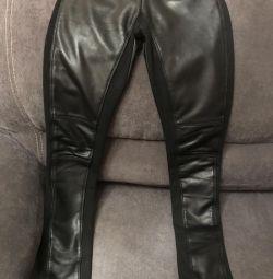 Pantaloni pentru femei, piele naturală
