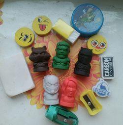 Erasers all together