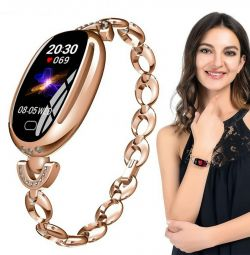 🔥 New Smart Watch Bracelet Women E68 Gold