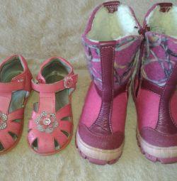 Ayakkabı (keçe bot ve sandalet)