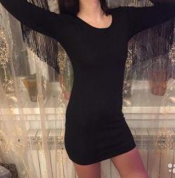 Boohoo Negru Fringed rochie