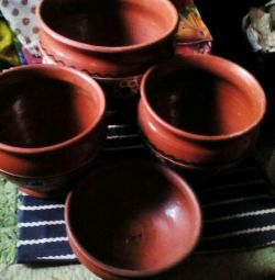 Pots for solyanka, kharcho, kebab, 2 courses!