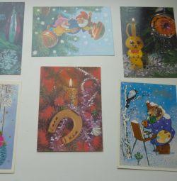 SSCB'nin kartpostalları Yeni Yılınız Kutlu Olsun