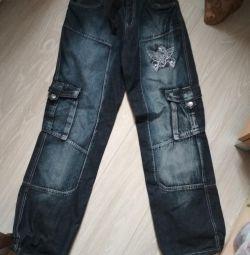 164 boyunda gençler için kot pantolon