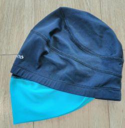 A bathing cap for long hair.