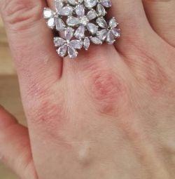 Inel de argint cu pietre