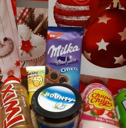 Sweet present fanta, milka, mars ...