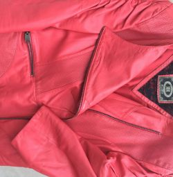 Куртка алая кожа Турция