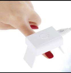 Mini uscător pentru unghii, pentru lacuri UV și heliu