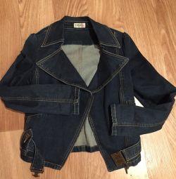 Джінсовку куртка косуха