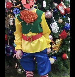 Costum de carnaval gnome pe creștere 98-104